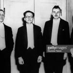 Schrodinger, Dirac, and Heisenberg at the Nobel ceremony