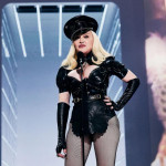 Madonna cosplaying Mr. Slave