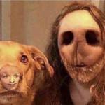 Terrifying face swap