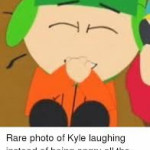 Kyle laughing is so precious