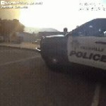 Police bodycam footage shows officers evacuating an SPCA in the path of the California wildfires