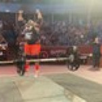 Burkina Faso's Iron Biby just broke the Axle Press World Record with a 217 kg/478 lbs lift
