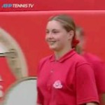 This tennis player giving the girl a chance and the opponent going with it.(might have already been posted)