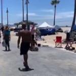 Elderly street performer in Venice Beach is sucker punched