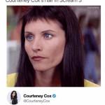 Courteney Cox's hair in Scream 3