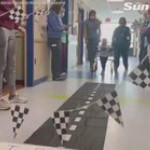Toddler who was completely paralyzed months ago walks out of hospital by himself