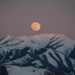 Supermoon rising over Ketchum, Idaho