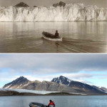 Photos are taken from the same location in the Arctic 100 years apart