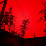 Not a photoshop, but a completely red sky in Yakutia due to smoke from massive forest fires that blotted out the sun (taken at 15:30 local time)