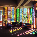 Stained glass living room