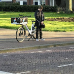 Dutch Domino's bicycle courier commemorates WWII