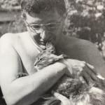 The great Bernard Herrmann with his buddy, circa 1947