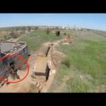 Ukrainian drone buzzes Russian proxy trenches, identifies mine launchers