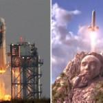 Jeff Bezos' Penis-Shaped Rocket Launches Dr. Evil Comparisons
