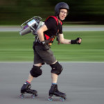 Roller Skating, Wile E. Coyote-Style
