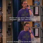 Sheldon on paper cuts