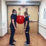 Health Care workers with great talent in ball dance