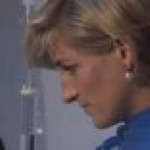 Princess Diana touching patients in hospitals