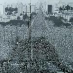 The day Pope John Paul II come to Curitiba, Brazil, 1980