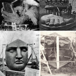 Assembly of the Statue of Liberty. Well the individual parts creep me out