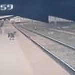 Indian man saves child from an incoming train!