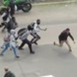 This is what happen to a scum chasing down someone (France)