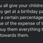Mom trying to take her kids bday money