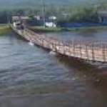 Normal bridge crossing in Russia