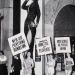 Women protesting at the premiere of Gentlemen Prefer Blondes in front of the Grauman's Chinese Theatre (1953)