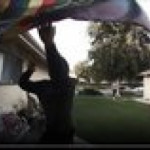Punks rip pride flag from neighbor while filming themselves for social media