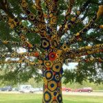 Crochet for trees in Morgantown, West Virginia. USA