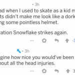 He should've been wearing a helmet