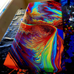 Colorful array of acrylic abstracts