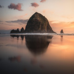 Sunsets at Cannon Beach