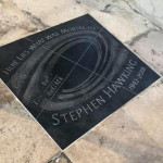 Final resting place of Stephen Hawking in Westminster Abbey. (His tomb is right in front of Isaac Newtons)