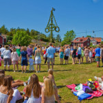 Midsommar festival (originating from pagan times)