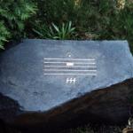 The gravestone of Alfred Schnittke (Soviet and German composer, 1934-1998)