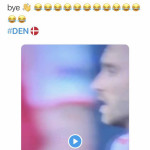 Christian Eriksen collapses on the pitch. This is this guy's response