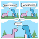 Be a pink dino to someone