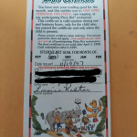 A pizza coupon way back 1997
