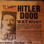 """Hitler dead. What now?"" - Dutch newspaper, 1945"