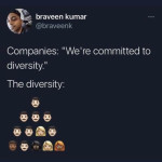 They really mean is ''we believe that everyone should be exploited regardless of race, sex or age''