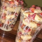 Churro Strawberry Cheesecake bites