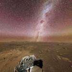Night Sky View on Mars