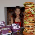 The biggest Mcdonalds big tasty