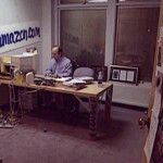 Jeff Bezos in his first office in 1999