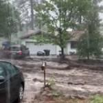 Insane flooding on a street in Flagstaff, Arizona