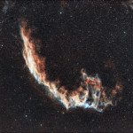 NGC 6992/ Eastern Veil Nebula from backyard