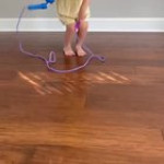 Jump rope prosthetic in action