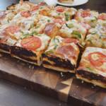 Sourdough Sicilian style pizza